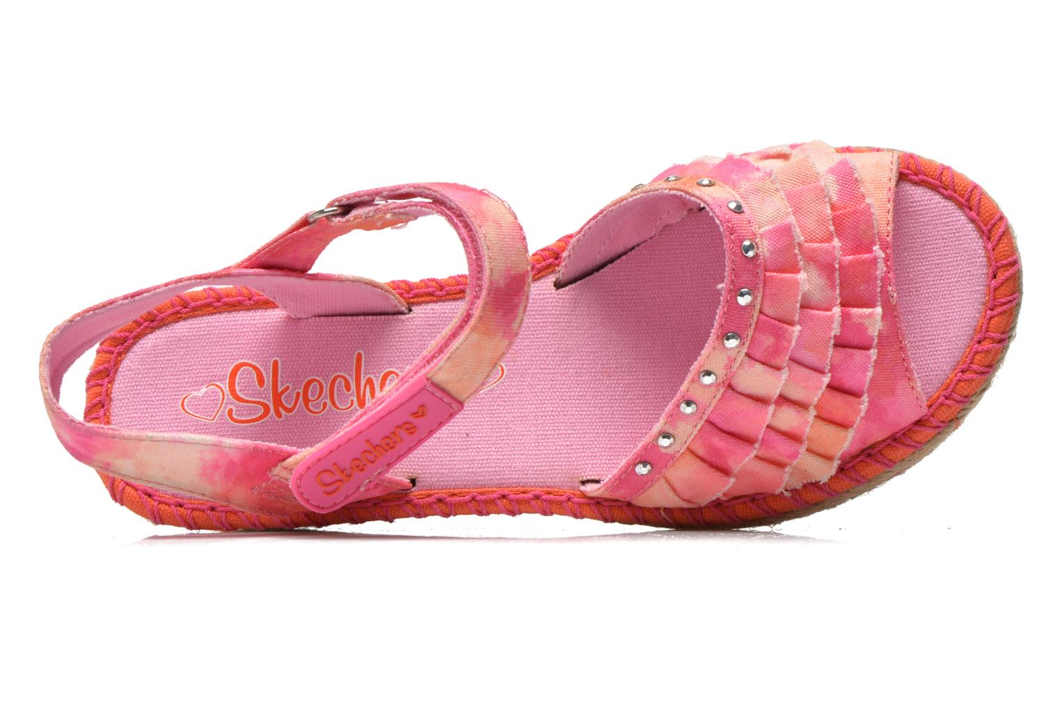 Sandals Skechers TikisRuffle Ups Pink view from the left
