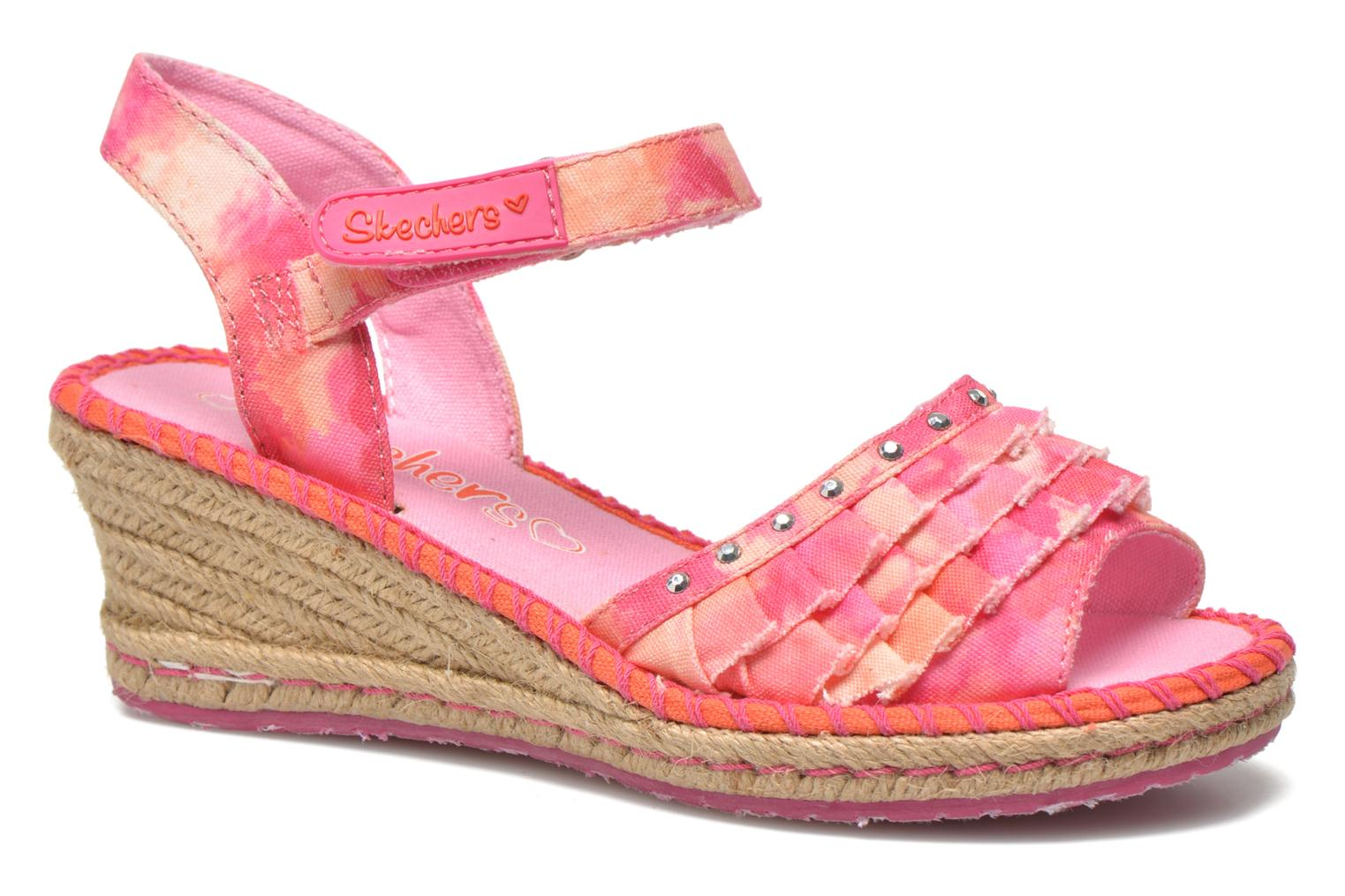 Sandals Skechers TikisRuffle Ups Pink detailed view/ Pair view