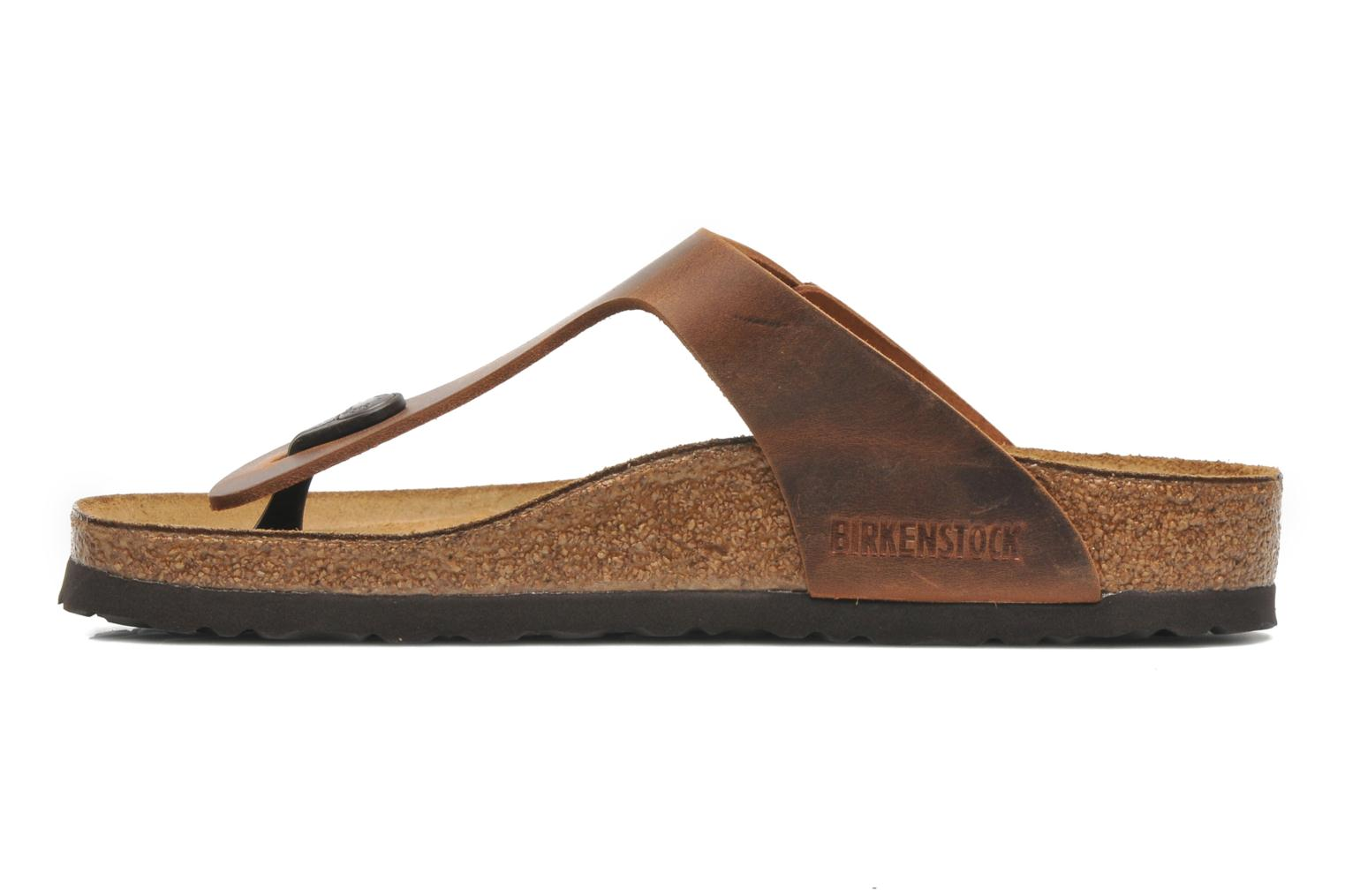 Mules & clogs Birkenstock Gizeh Cuir W Brown front view