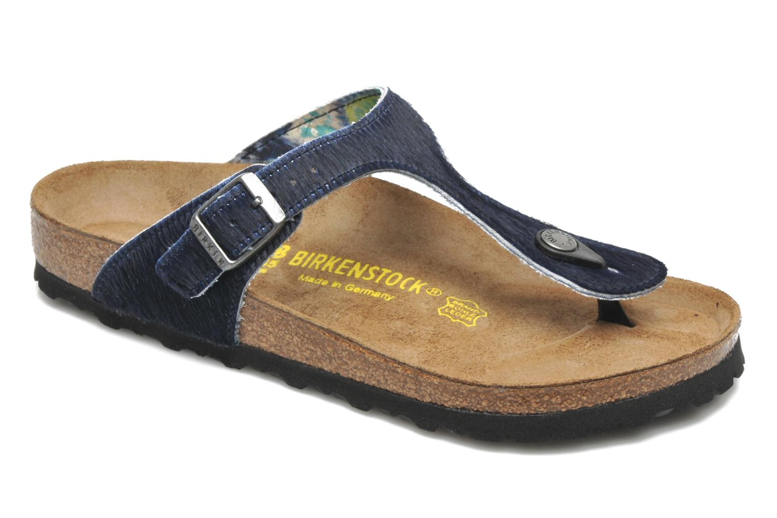 Flip flops Birkenstock Gizeh Textile Pony W Blue detailed view/ Pair view