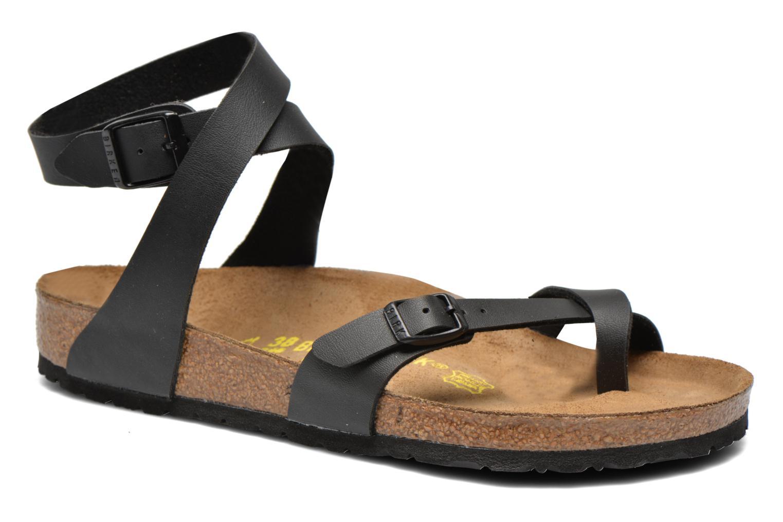Sandales et nu-pieds Birkenstock Yara Flor W Noir vue détail/paire