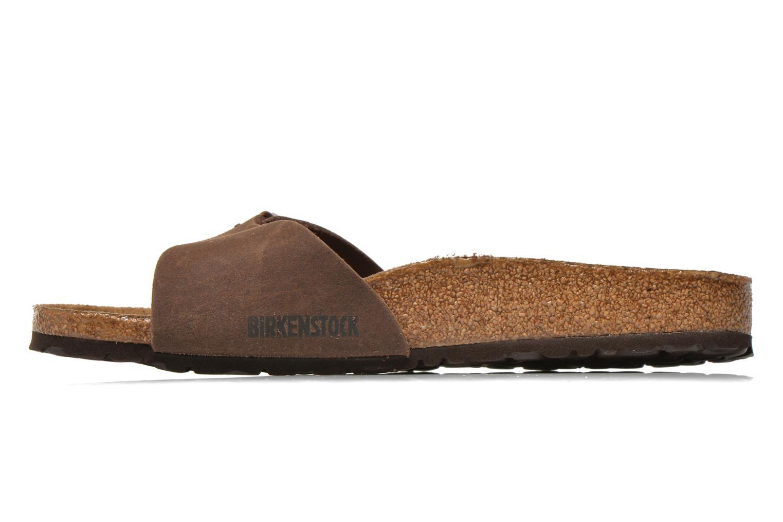 Sandales et nu-pieds Birkenstock Madrid Microfibre M Marron vue face