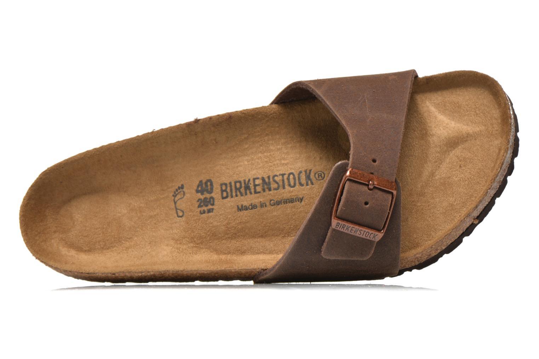 Sandales et nu-pieds Birkenstock Madrid Microfibre M Marron vue gauche