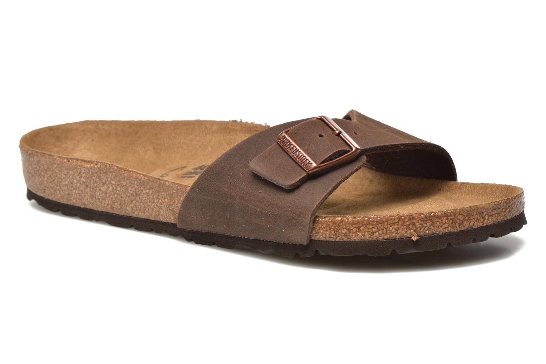 Sandales et nu-pieds Birkenstock Madrid Microfibre M Marron vue détail/paire