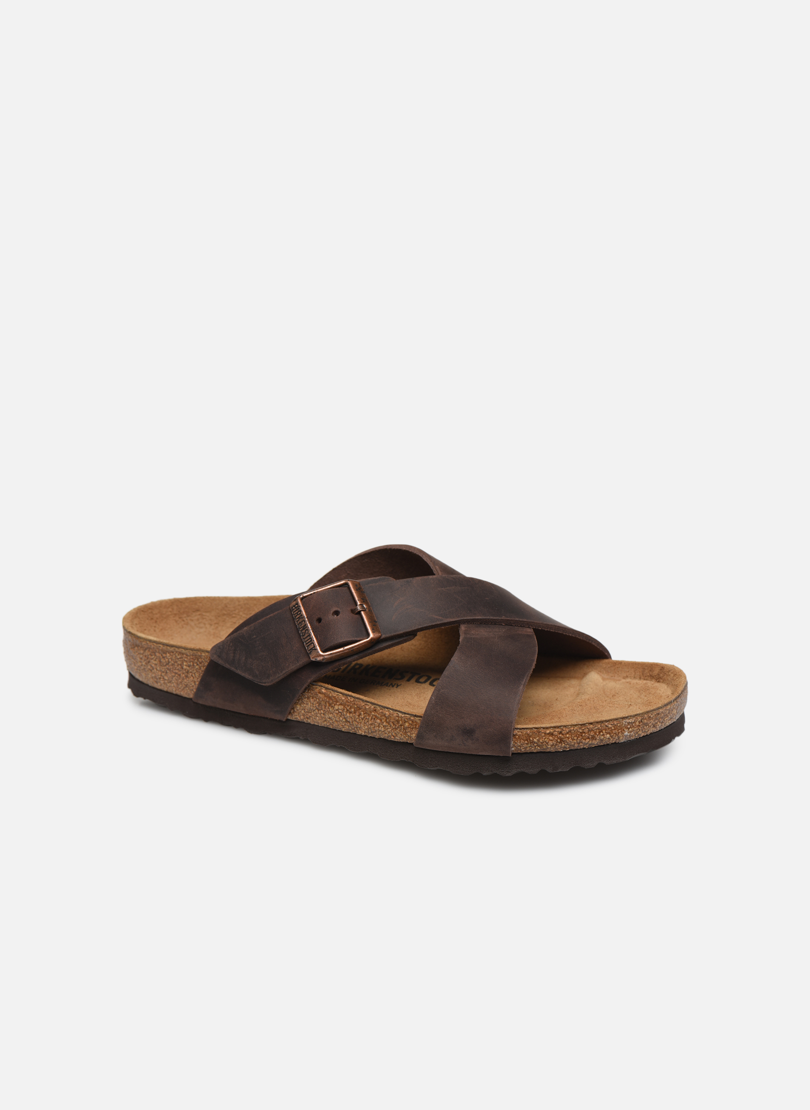Birkenstock Tunis Cuir M (Noir) - Sandales et nu-pieds chez Sarenza (325360)