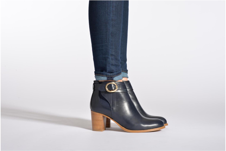 Bottines et boots Georgia Rose Eperdrix Bleu vue bas / vue portée sac