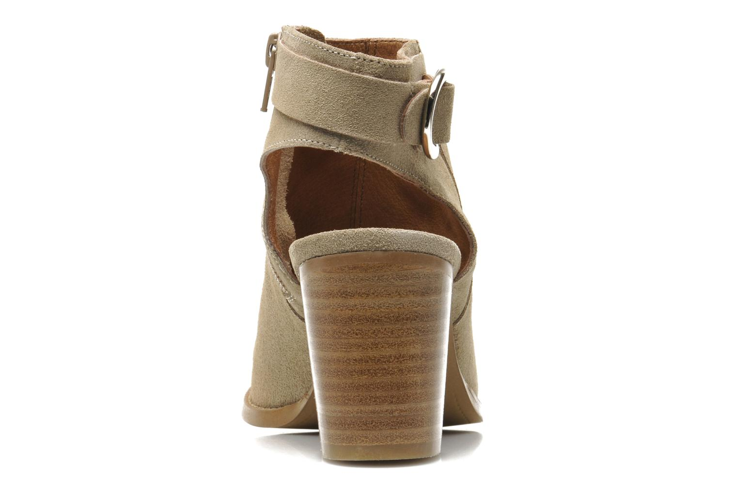 Ankle boots Georgia Rose Efaisan Beige view from the right