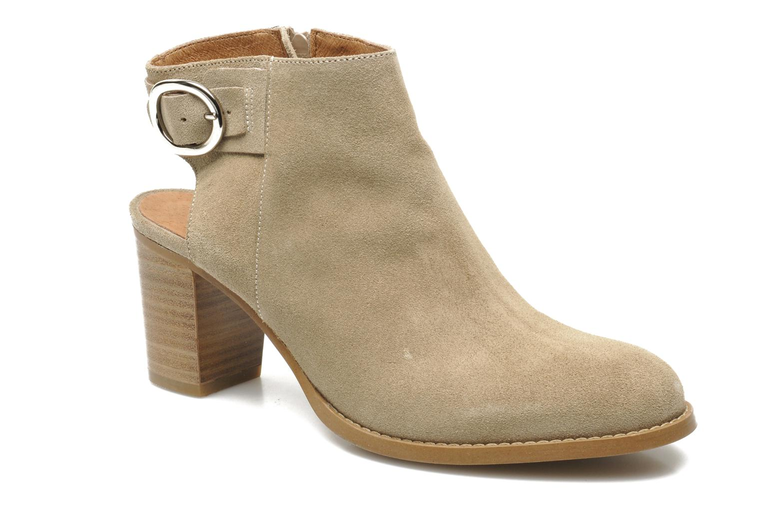 Ankle boots Georgia Rose Efaisan Beige detailed view/ Pair view