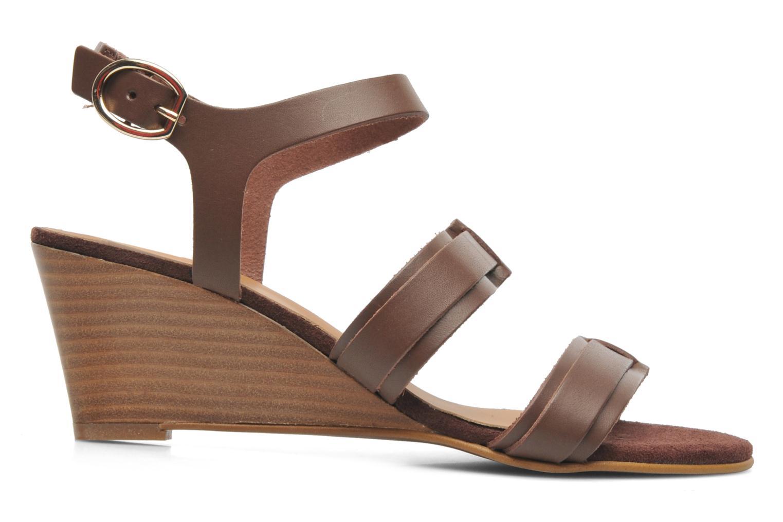 Sandales et nu-pieds Georgia Rose Lapoulette Marron vue derrière