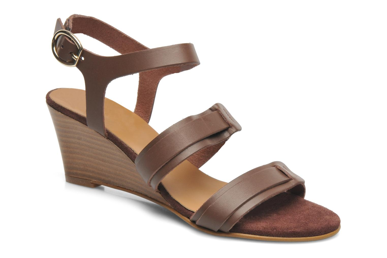 Sandales et nu-pieds Georgia Rose Lapoulette Marron vue détail/paire