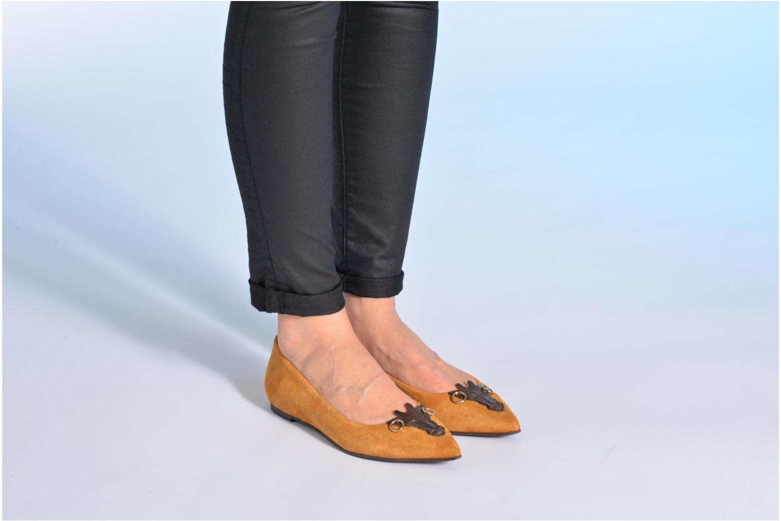 Ballet pumps Made by SARENZA Cape Town #10 Brown view from underneath / model view