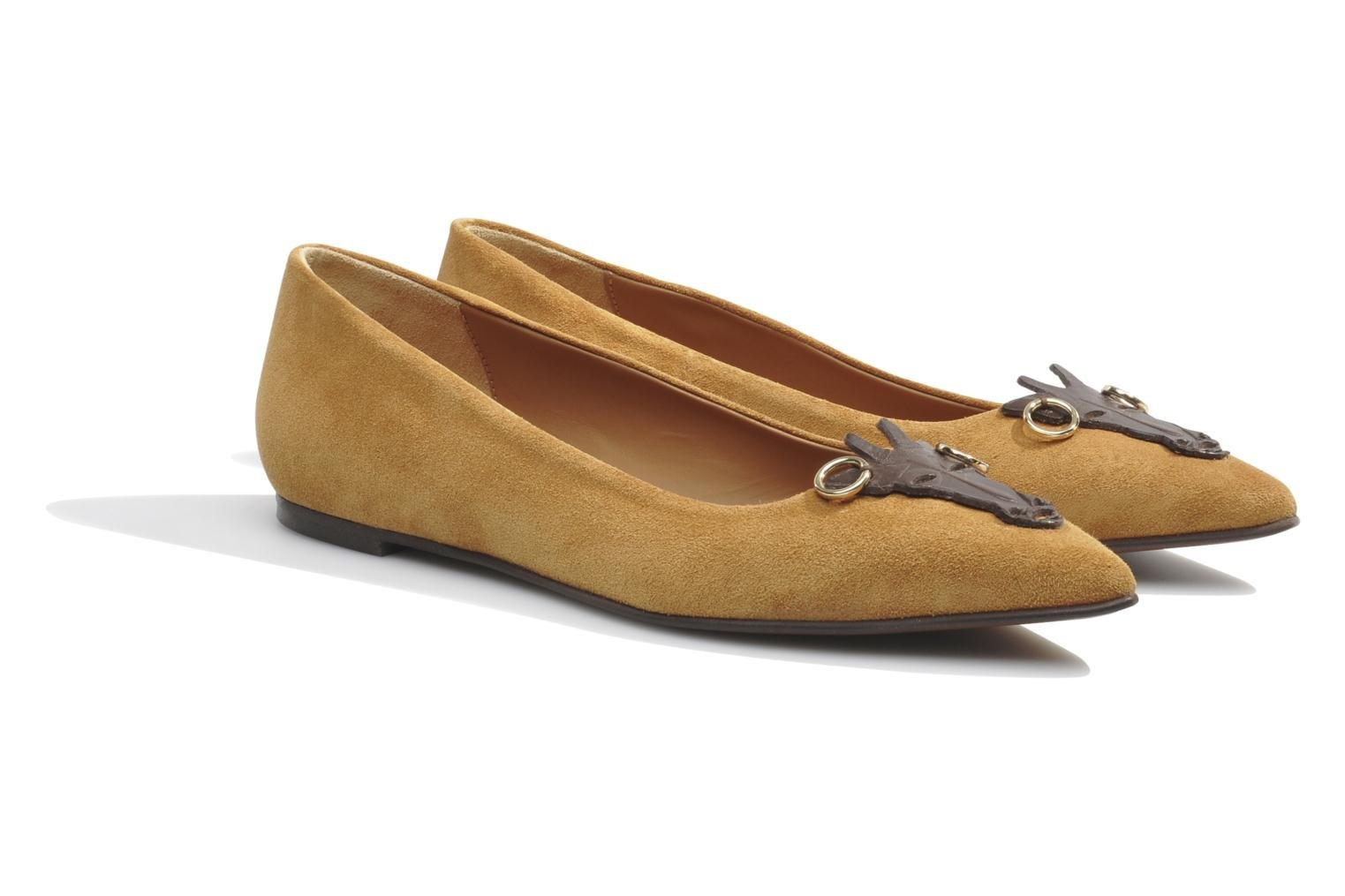 Ballet pumps Made by SARENZA Cape Town #10 Brown back view