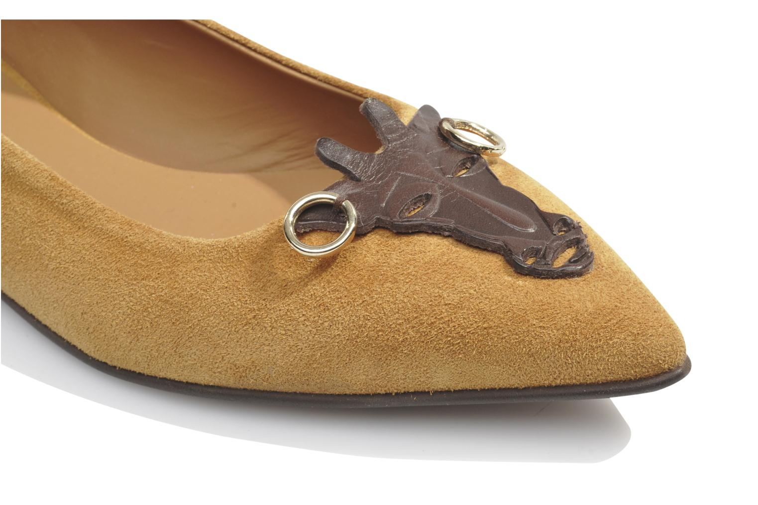 Ballet pumps Made by SARENZA Cape Town #10 Brown view from above