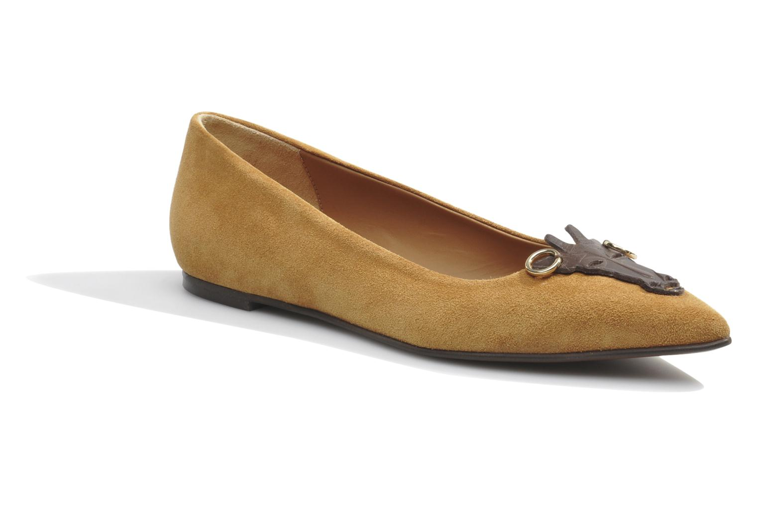 Ballet pumps Made by SARENZA Cape Town #10 Brown detailed view/ Pair view