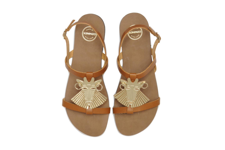 Sandales et nu-pieds Made by SARENZA Nairobi #5 Marron vue portées chaussures