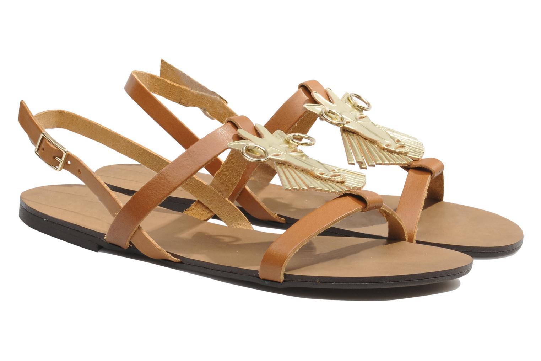 Sandals Made by SARENZA Nairobi #5 Brown back view