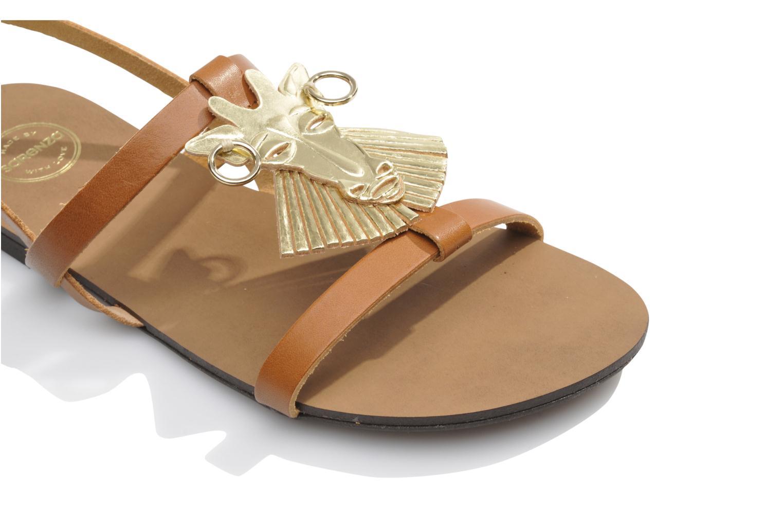 Sandales et nu-pieds Made by SARENZA Nairobi #5 Marron vue gauche