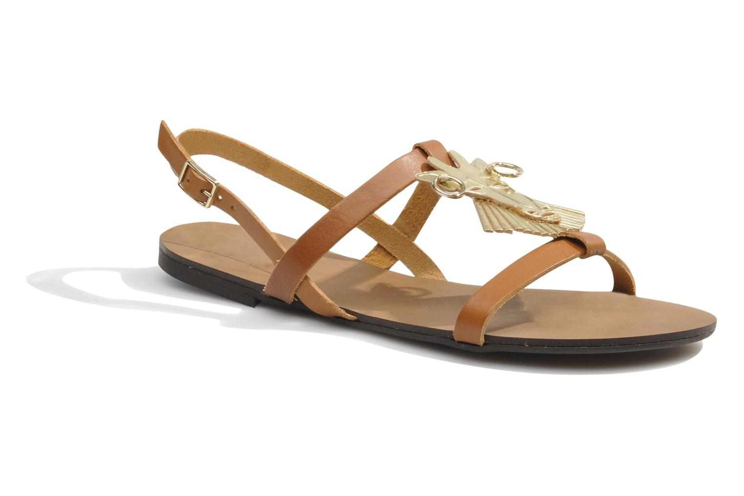 Sandals Made by SARENZA Nairobi #5 Brown detailed view/ Pair view