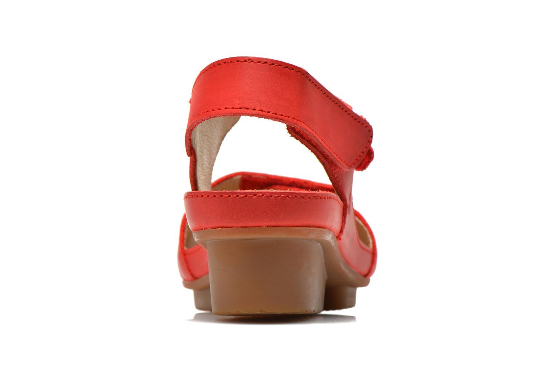 Sandales et nu-pieds El Naturalista Code ND20 Rouge vue droite