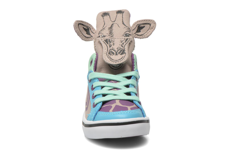 Baskets Feiyue Delta Mid Animal Gris vue portées chaussures