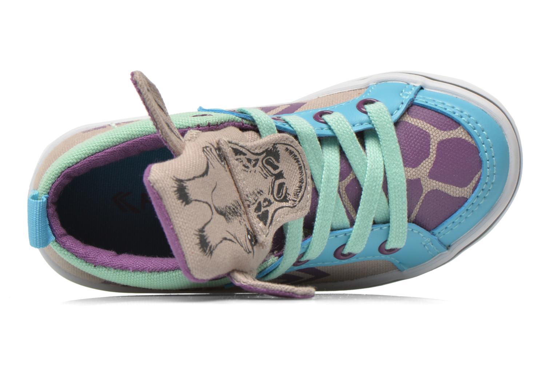 Sneakers Feiyue Delta Mid Animal Grijs links