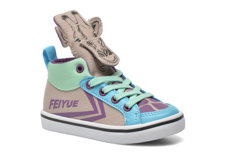Sneakers Feiyue Delta Mid Animal Grijs detail