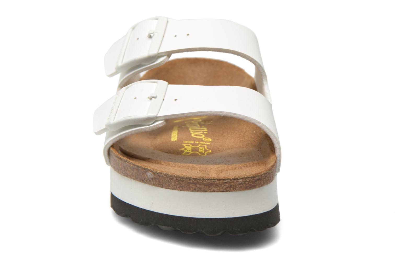 Mules et sabots Papillio Arizona Flor W Blanc vue portées chaussures