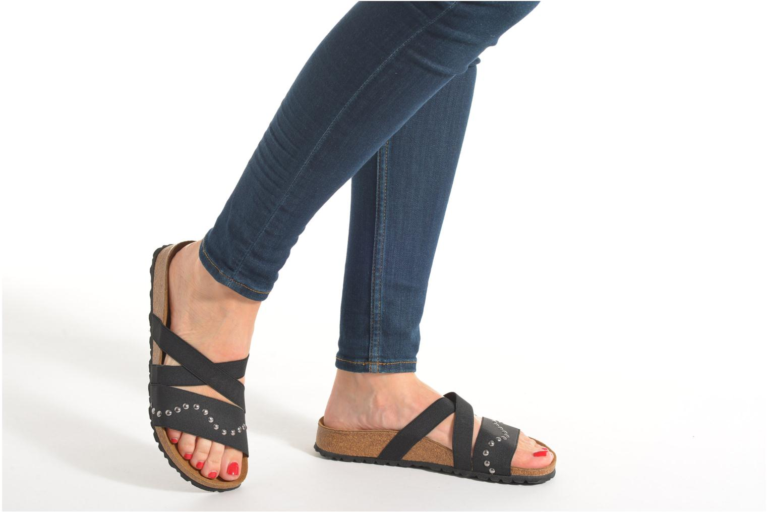 Mules & clogs Papillio Cosma Textile Black view from underneath / model view