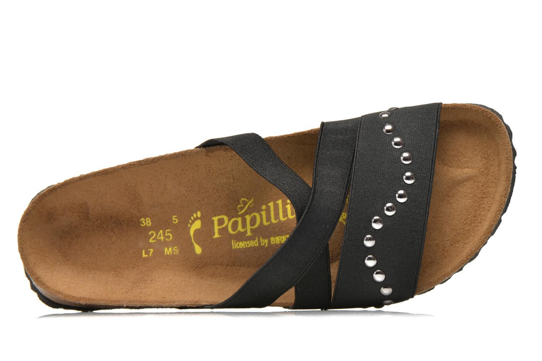 Mules et sabots Papillio Cosma Textile Noir vue gauche