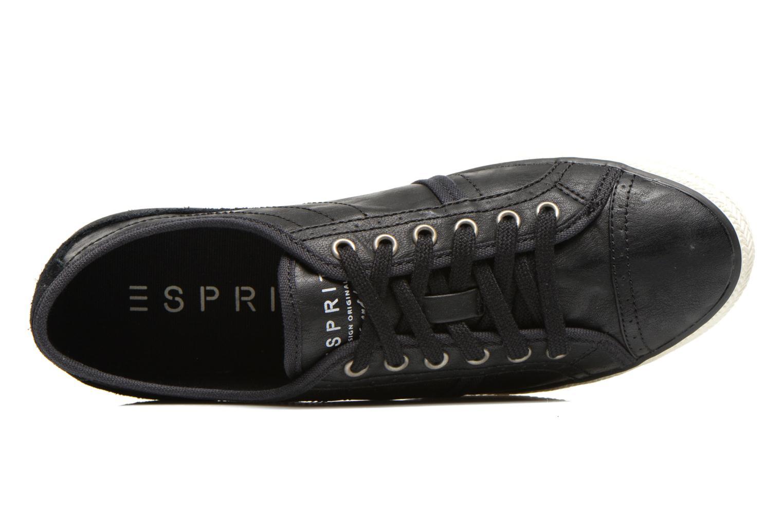 Sneakers Esprit Megan Lace Up 004 Zwart links
