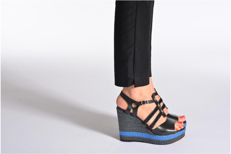 Sandales et nu-pieds Sonia Rykiel Izane Noir vue bas / vue portée sac