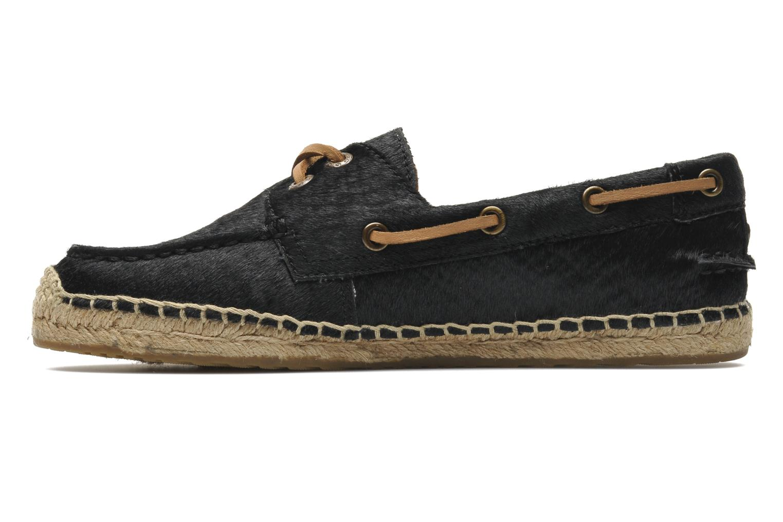 Espadrilles UGG Corris Calf Hair Scales Black front view