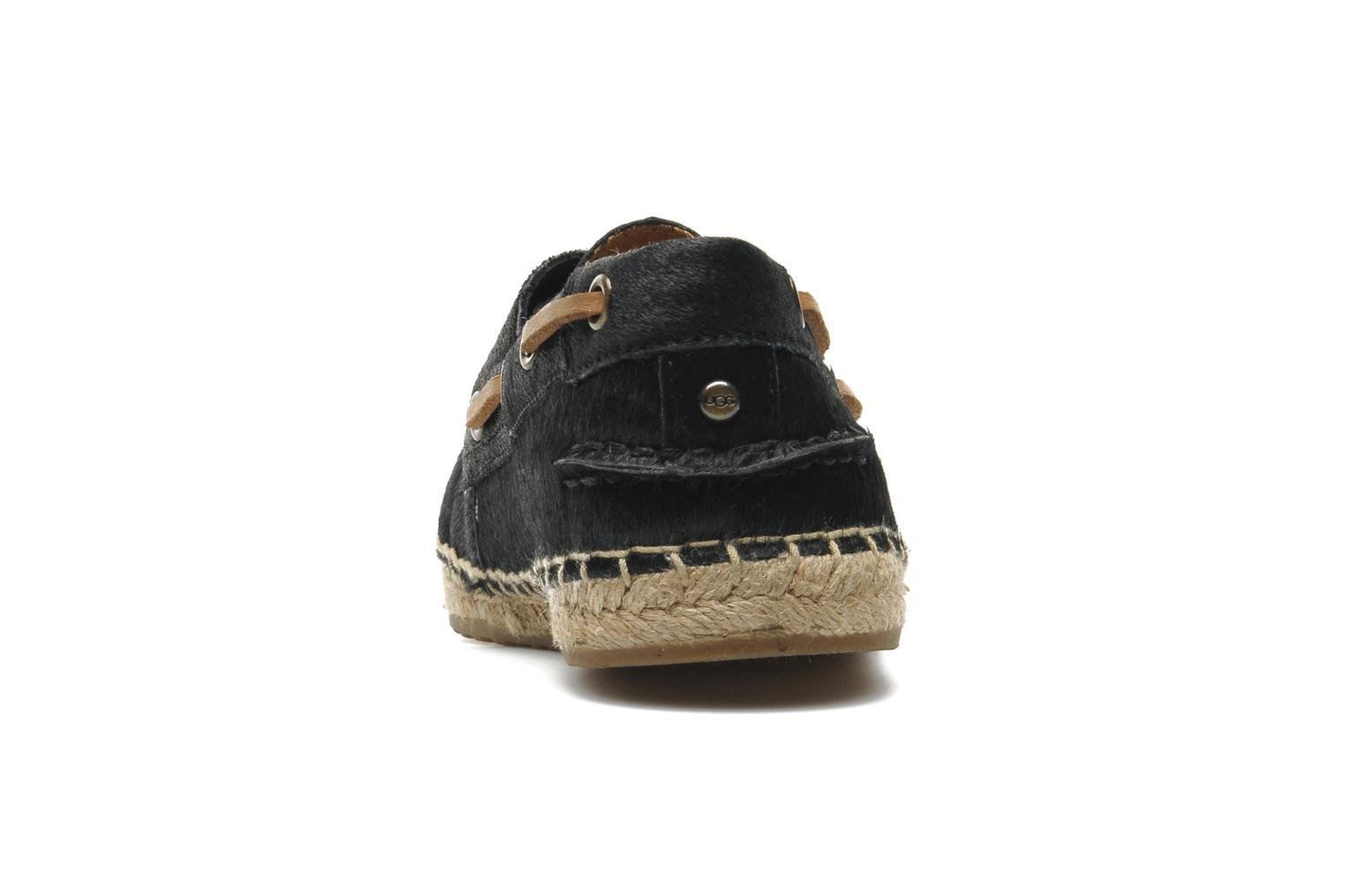 Espadrilles UGG Corris Calf Hair Scales Black view from the right