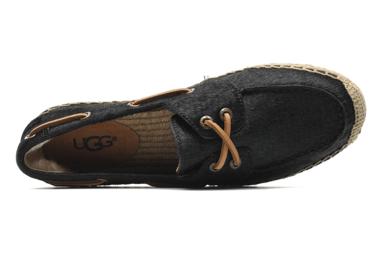 Espadrilles UGG Corris Calf Hair Scales Noir vue gauche
