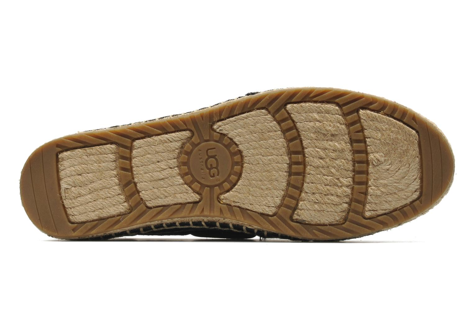 Espadrilles UGG Corris Calf Hair Scales Black view from above
