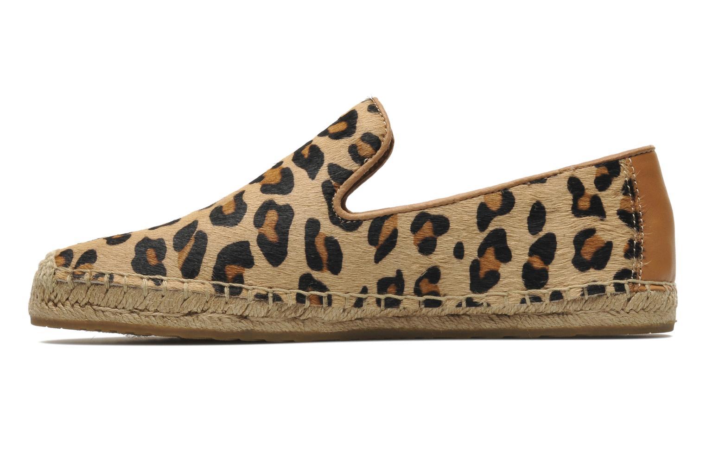 Espadrilles UGG Sandrinne Calf Hair Leopard braun ansicht von vorne