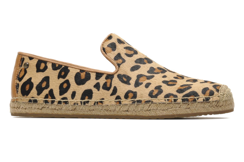 Alpargatas UGG Sandrinne Calf Hair Leopard Marrón vistra trasera