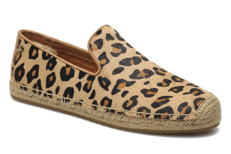 Alpargatas UGG Sandrinne Calf Hair Leopard Marrón vista de detalle / par