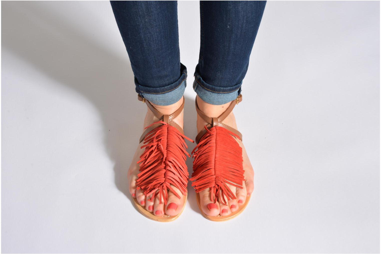 Sandales et nu-pieds Tormaline Playa Noir vue bas / vue portée sac