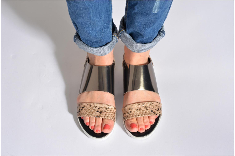 Sandales et nu-pieds Fabio Rusconi Lunaire Noir vue bas / vue portée sac