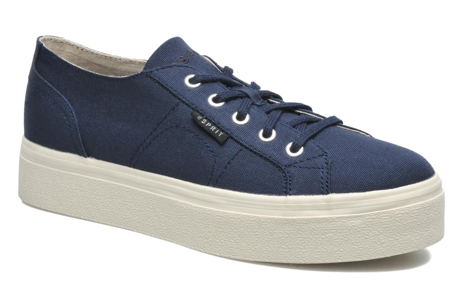 Trainers Esprit Starry Lace up 045 Blue detailed view/ Pair view