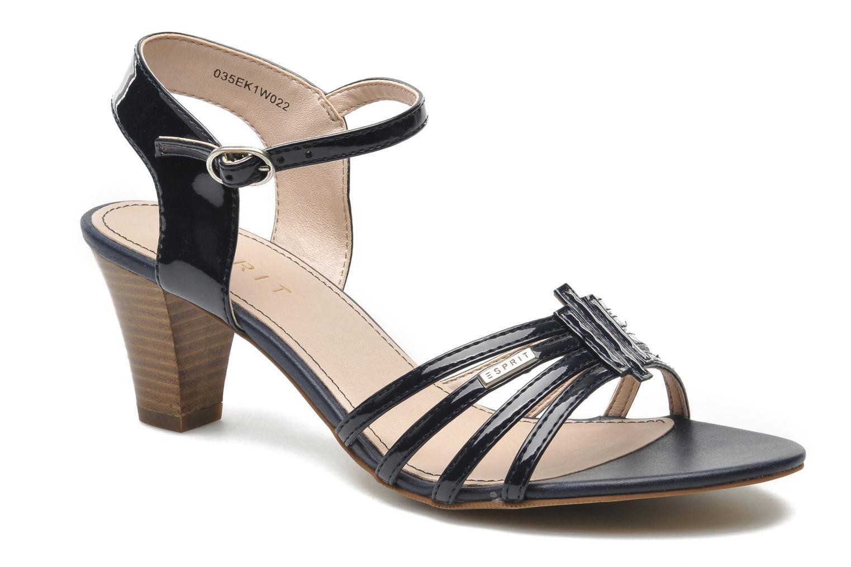 Sandales et nu-pieds Esprit Tessa Sandal 022 Bleu vue détail/paire