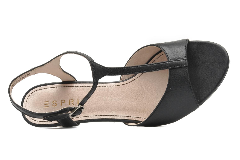Sandales et nu-pieds Esprit Tessa Sandal 020 Noir vue gauche