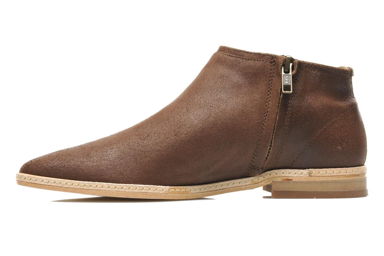 Bottines et boots H By Hudson Shift Marron vue face