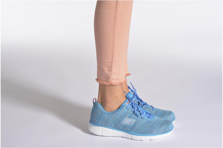 Sneaker Skechers Equalizer First Rate 12033 grau ansicht von unten / tasche getragen