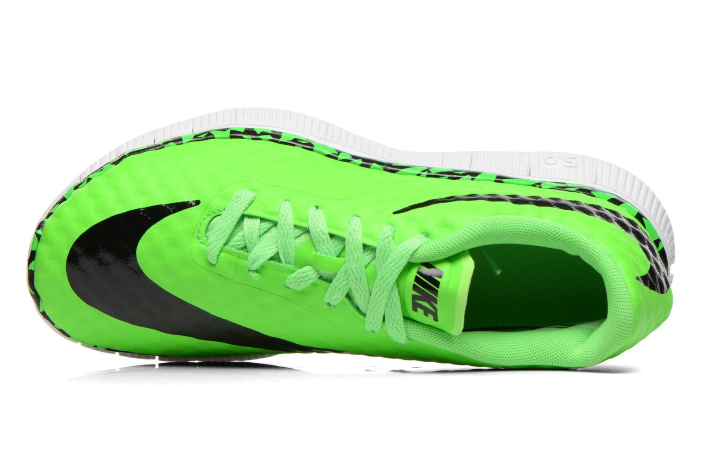 Sneaker Nike NIKE FREE HYPERVENOM (GS) grün ansicht von links