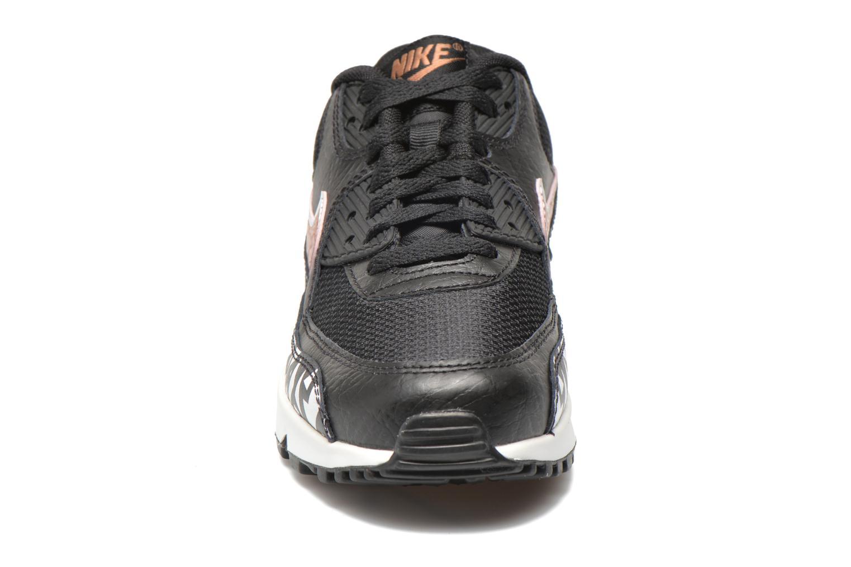 Sneaker Nike AIR MAX 90 FB (GS) schwarz schuhe getragen