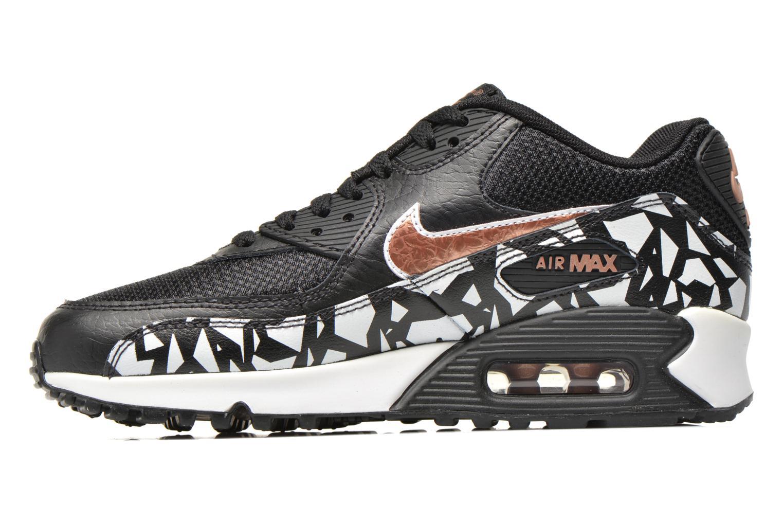 Sneaker Nike AIR MAX 90 FB (GS) schwarz ansicht von vorne