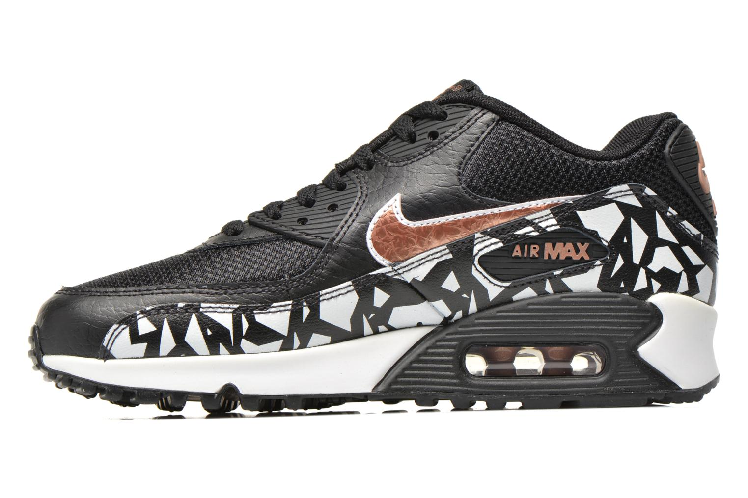 Baskets Nike AIR MAX 90 FB (GS) Noir vue face