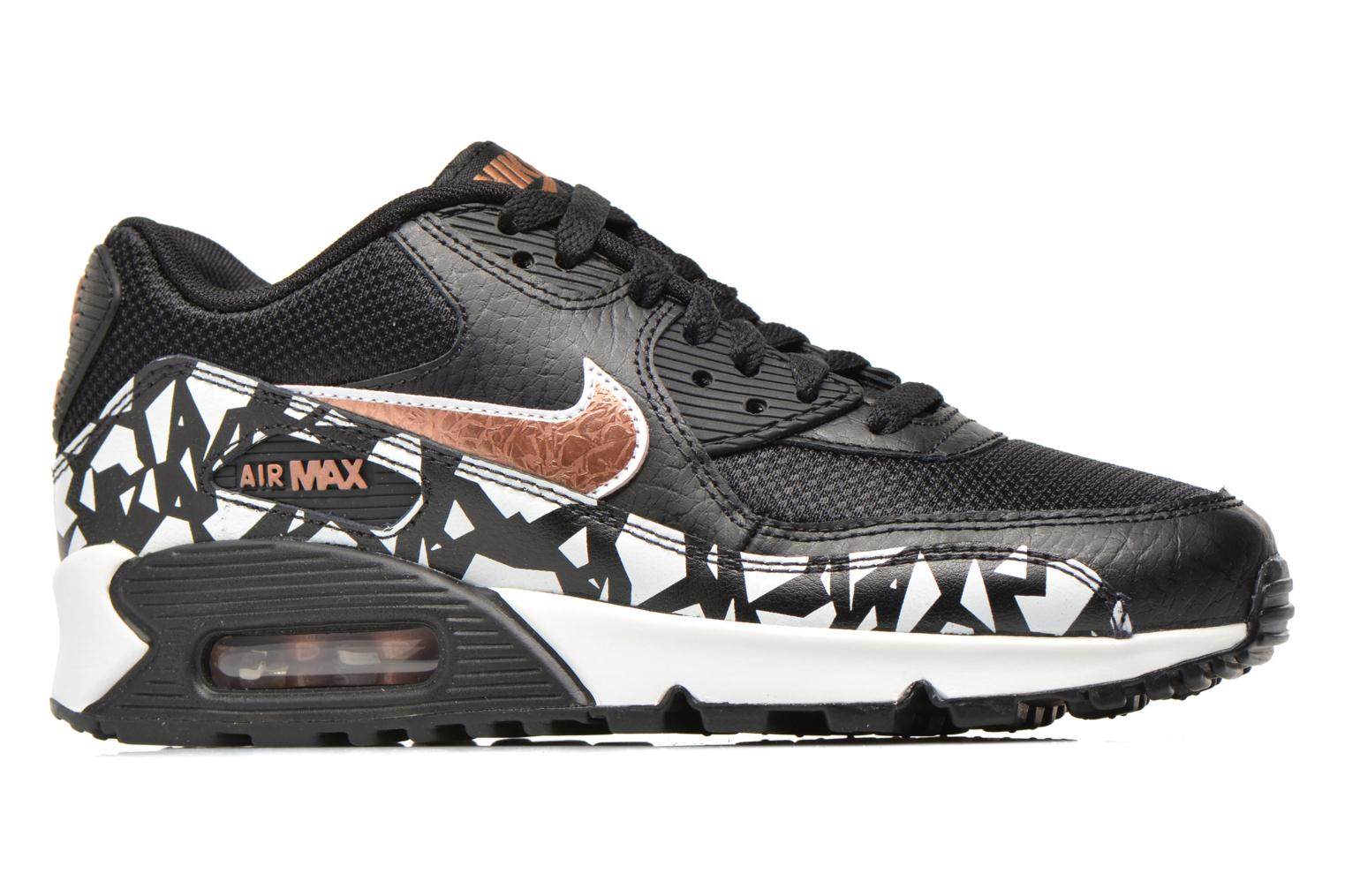 Trainers Nike AIR MAX 90 FB (GS) Black back view